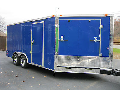2016 8.5x16 V-NOSE Enclosed Snowmobile Trailer with 2 Ramps