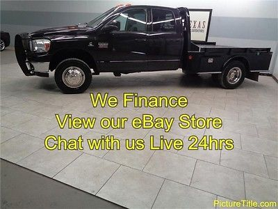Dodge : Ram 3500 SLT 4WD 6.7 Diesel Quad Flatbed 07 ram 3500 4 x 4 quad cab flat bed 6.7 cummins diesel we finance texas