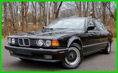 BMW : 7-Series 735iL 1989 bmw 735 il l 6 rare california car low miles carfax