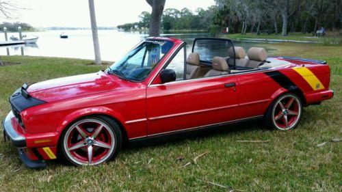 BMW : 3-Series E30 BMW E30 325i 55K ORIGINAL DOCUMENTED MILES CONVERTIBLE 5 SPEED VOGUE RED M20 NR
