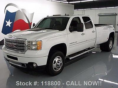 GMC : Sierra 3500 DENALI CREW DIESEL DRW 4X4 2012 gmc sierra 3500 denali crew diesel drw 4 x 4 34 k mi 118800 texas direct auto