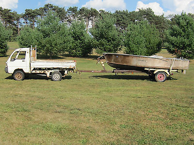 CHRIS CRAFT CAVALIER 15 FOOT RUNABOUT PROJECT WITH TRAILER GRAY MARINE SKI BOAT