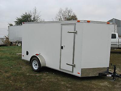 2016 6X12SA Enclosed Cargo Trailer V-Nose Side Door 6' Interior Height *WARRANTY