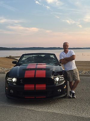 Ford : Mustang Black with red trim 2014 ford mustang shelby cobra gt 500 convertible