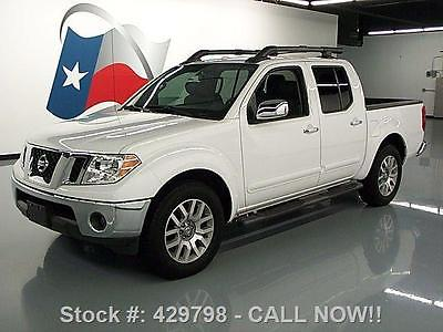 Nissan : Frontier SL CREW AUTO HTD LEATHER 2012 nissan frontier sl crew auto htd leather 23 k miles 429798 texas direct