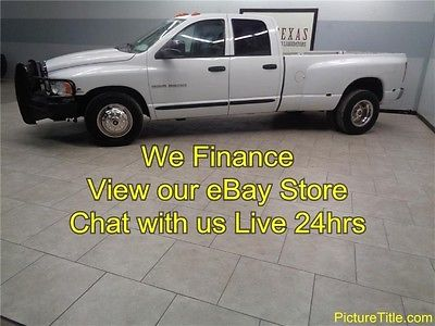 Dodge : Ram 3500 SLT 2WD Dually 5.9 Turbo Diesel 6 Speed 05 ram 3500 slt dually 5.9 cummins diesel 6 speed crew cab tow we finance texas