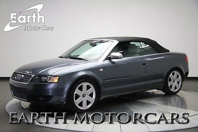 Audi : S4 Cabriolet Convertible 2-Door 2004 audi s 4 convertible heated seats only 87 k miles super clean wow