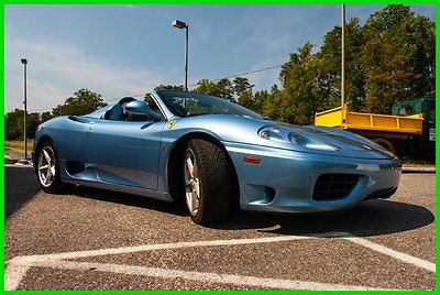 Ferrari : 360 Bid on it at Mecum Kissimmee on 1/20/16 2004 ferrari f 360 spider f 1 outstanding azzurro blue over nero very nice