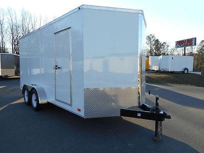 7 x 16 Enclosed Contractor Trailer