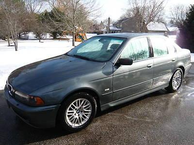 BMW : 5-Series 530i 2002 bmw 530 i sedan 3.0 l il 6 silver blue black leather every option