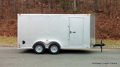 2016 New 7x14 Enclosed Cargo, Land Care, Motorcycle Trailer