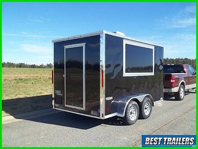 2016 7 x 12 concession w sink pkg New enclosed finished vending trailer AC power