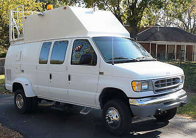 Ford : E-Series Van Quigly SuperTrak 1997 ford e 350 xlt extended body 6.8 triton v 10 quigley 4 x 4 dually van
