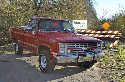 Chevrolet : Silverado 1500 Silverado K10 1986 chevrolet silverado 4 x 4 short bed mostly original survivor phenomenal a