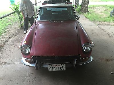 MG : MGB BGT 1972 ruby red mg bgt restoration started clear title