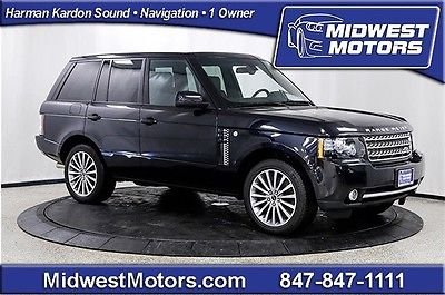 Land Rover : Range Rover SC 2012 land rover ranger rover supercharged silver pack rear ent 1 owner