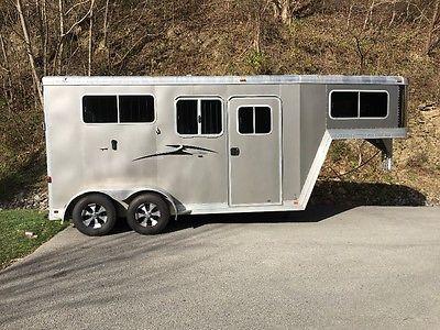 2012 FeatherLite Model 9607 Two Horse Trailer