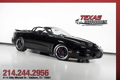 Pontiac : Firebird Trans Am WS6 500hp $25k Invested! 2001 pontiac trans am ws 6 500 hp 25 k invested 6 speed low miles convertible