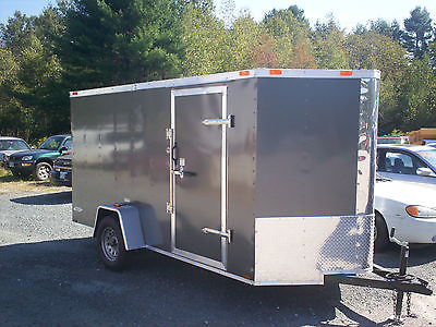 2016 Five Star Enclosed Cargo Trailer 6 x 12, V-Front, Rear Ramp,Side Door