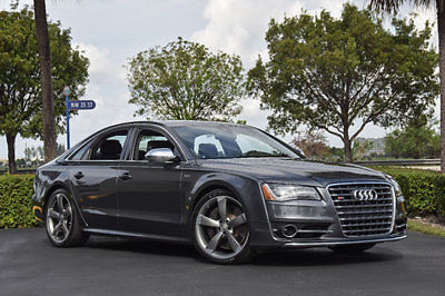 Audi : S8 4dr Sedan 14 audi s 8 520 hp 21 wheels night vision driver assist pkg cold weather pkg