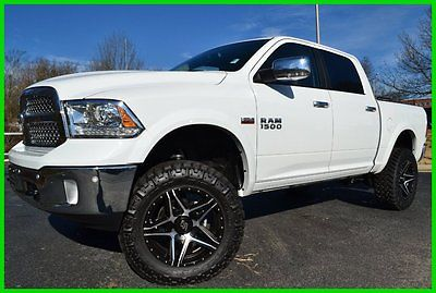 Ram : 1500 Laramie CREW CAB 4X4 LIFTED DEMO ON 35s WE FINANCE 5.7 l v 8 8 speed auto anti spin park assist 8.4 nav backup camera alpine sound