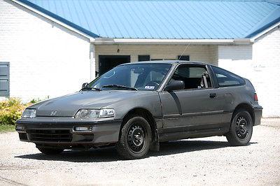Honda : CRX HF 1991 honda crx hf w rebuilt title