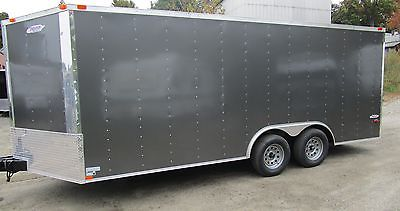 New 2016 Five Star Series Enclosed Cargo, Car Trailer,8.5 x 18 Charcoal