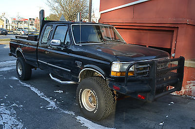 Ford : Other Pickups 1997 ford f 250 7.3 diesel 4 wd 5 spd manual w heavy duty bumbers