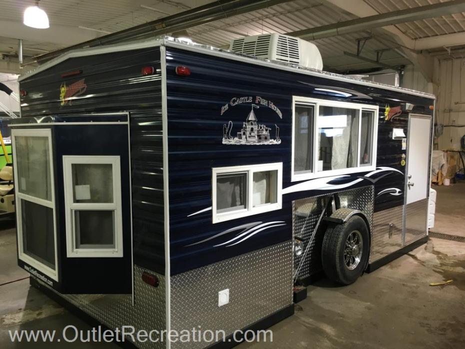 Ice castle 8x16 daredevil rvs for sale for Toy hauler fish house