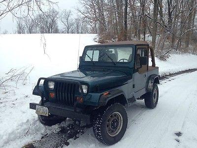 Jeep : Wrangler YJ 1995 Jeep Wrangler Yj Green 2 Soft Top Cab Top New  Rampage