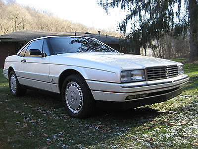 Cadillac : Allante both tops CADILLAC ALLANTE PEARL WHITE DARK GRAY LEATHER VERY LO MILES COLLECTOR QUALITY