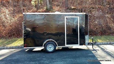 New - 2016 6x12 Enclosed Cargo/Utility/ Motorcycle Trailer