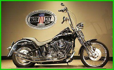 Harley-Davidson : Softail 2003 harley davidson fxsts springer softail 100 th ann black watch our video