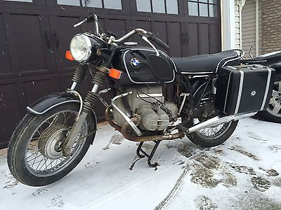 BMW : R-Series 1970 bmw r 60 5 project bike craven panniers good shape overall factory black
