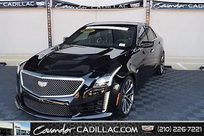 2016 GM Certified Cadillac CTS-V Sedan 2016 4dr Car Used Supercharged Gas V8 6.2L/376 8 RWD Leather Black