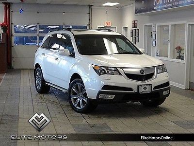 2010 Acura MDX Base Sport Utility 4-Door 10 acura mdx advance package awd navi gps rear dvd third row heated cooled