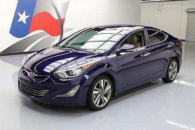 2014 Hyundai Elantra  2014 HYUNDAI ELANTRA LIMITED HTD LEATHER REAR CAM 57K #514132 Texas Direct Auto