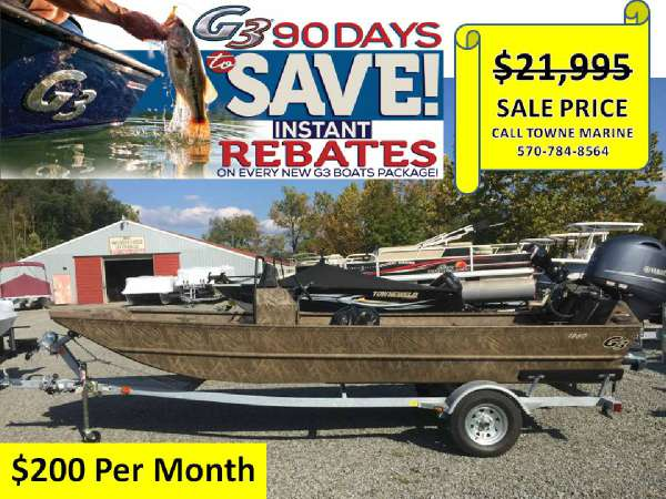 2017 G3 BOATS 1860 CCJ Shadowgrass