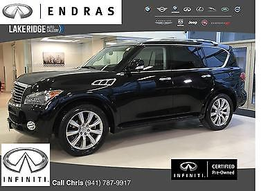 2013 Infiniti QX56 -- 2013 Infiniti QX56 Theater Package+Tech Black Sport Utility 8 Cylinder Engine