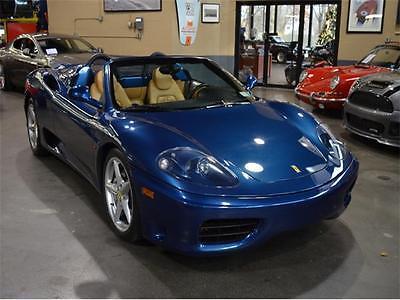 2003 Ferrari 360 -- 2003 Ferrari 360 Modena Spider F1 - Nart Blue - Only 5,000 Miles from New