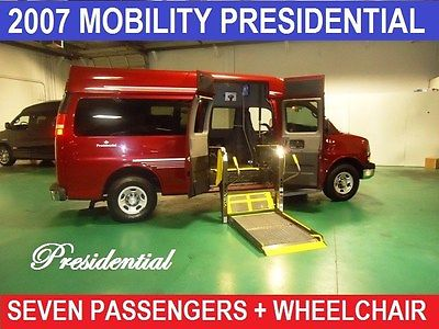 2007 Chevrolet Other Pickups WHEELCHAIR PRESIDENTIAL CONVERSION VAN 2007 Chevrolet G-Series Van, Red with 45,526 Miles available now!