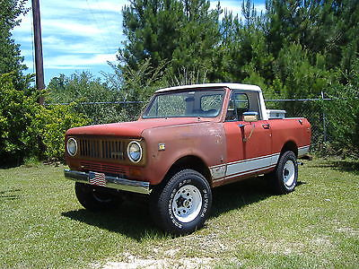 1974 International Harvester Scout half cab '74 International Scout II Half Cab 4x4 258 3spd