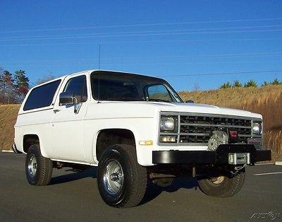 1990 Chevrolet Blazer 1-OWNER 83K **SALE PENDING DO NOT USE BUY IT NOW** HARP-ALL-STOCK-K5-V1500-4WD-AC-FUEL-INJ-5.7L-350-AUTO-4X4-WARN-WINCH-WAGON-SUV