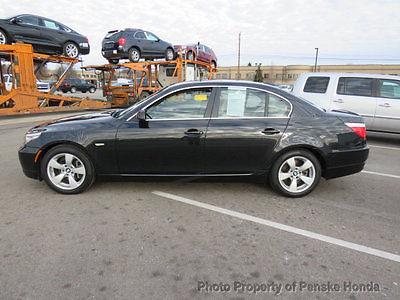 2008 BMW 5-Series 528i 528i 5 Series 4 dr Sedan Manual Gasoline 3.0L STRAIGHT 6 Cyl BLACK