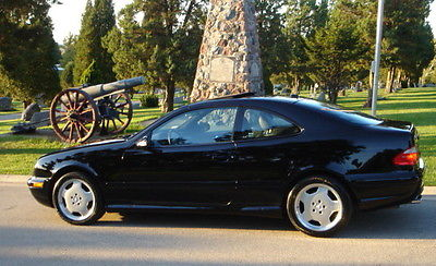 2001 Mercedes-Benz CLK-Class AMG 55 ALL Black Coupe with AMG package