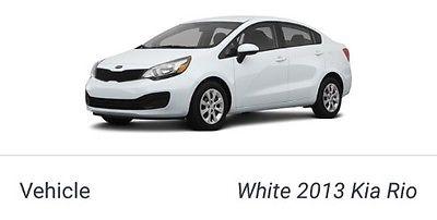 2013 Kia Rio 4 door Kia Rio LX  Power Locks, Tinted Windows, Auto, Sedan w/large trunk, White Ext., Warranty
