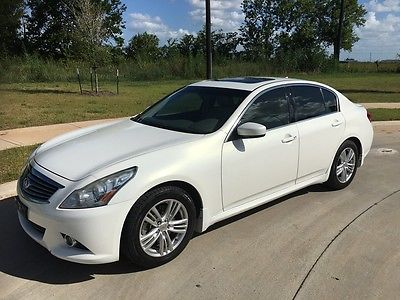 2012 Infiniti G Base Sedan 4-Door 2012 Infiniti G25 with Low Miles, Great Gas Saver, Satellite Radio, Back up Cam