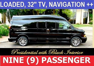 2016 GMC 9 Passenger Conversion Van Presidential Nine Passenger SSX 2016 GMC 9 Passenger Conversion Van, Black with 10 Miles available now!
