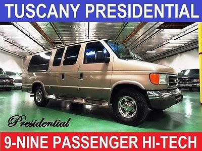2007 Ford E-Series Van 9 Nine Passenger Presidential Ford E250 Gold with 89,500 Miles, for sale!