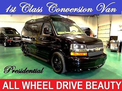 2014 Chevrolet Other PRESIDENTIAL CONVERSION VAN AWD Black Chevrolet Conversion Van with 110 Miles available now!